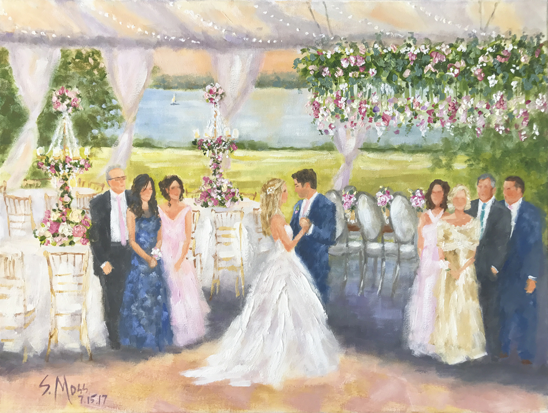 Live Event Paintings And Wedding Paintings Susan Moss